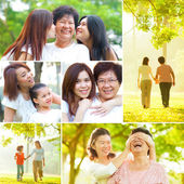 Collage photo mothers day concept. — Foto de Stock