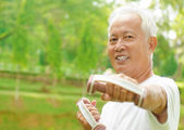 Asian senior workout — Stock Photo