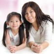 Portrait of a joyful mother and her daughter — Stock Photo #22315039
