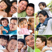 Collage photo father day concept. — Stockfoto