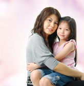 Asian parent and child. — Stock Photo