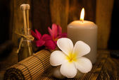 Low light spa setting indoor — Stock Photo