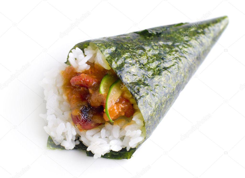 Hand roll temaki sushi. — Stock Photo © szefei #2365784