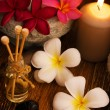Low light spa massage setting — Stock Photo