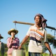 Group of Traditional Asian farmers — Stock Photo