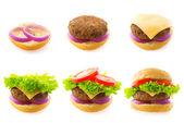 Making burger — Stock Photo