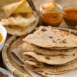 Chapati and roti canai - Stock Photo