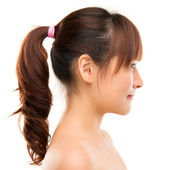 Asian woman profile. — Stock Photo