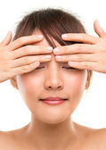 Oog massage — Stockfoto