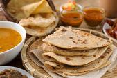 Chapati and roti canai — Stock Photo