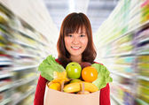 Asian grocery shopping. — Stock Photo