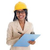 Indian female construction engineer — Stock Photo