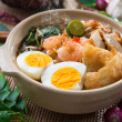 Prawn mee, prawn noodles. — Stock Photo