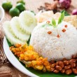 Stock Photo: Nasi lemak kukus