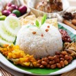 Stock Photo: Nasi lemak malaysidish