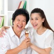 Family eating ice cream — Stock Photo #26547059