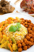 Hot fresh biryani rice — Stock Photo