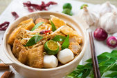 Singapore Curry Noodle — Stock Photo