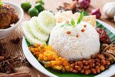 Nasi lemak kukus — Stock Photo