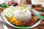 Nasi lemak malaysian dish — Stock Photo