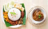 Nasi lemak hot and spicy — Stock Photo