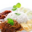 Stock Photo: Nasi lemak malay dish