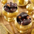 Stock Photo: Dried date palm fruits or kurma