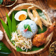 Nasi kerabu - Stock Photo