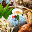 Traditional Malaysian food nasi kerabu - Stock Photo