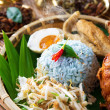 Malay rice dish nasi kerabu — Stock Photo