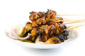 Chicken satay. — Stock Photo