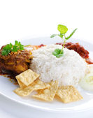 Malay food Nasi lemak — Stock Photo