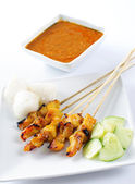Satay chicken — Stock Photo