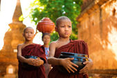 Buddhist monks Myanmar — Stock Photo