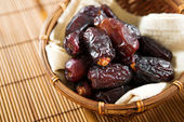 Dried date palm fruits — Stock Photo