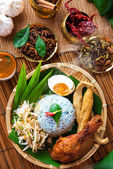 Malay food nasi kerabu — Stock Photo