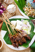 Malay dish satay — Stock Photo