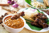Satay or sate — Stock Photo
