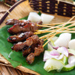 Satay grilled meat — Stock Photo #27030699