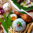 Malay rice dish — Stock Photo