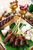Satay Malay food — Stock Photo