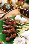 Satay Singapore food — Stock Photo