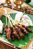Satay Southeast Asia food — Stock Photo