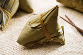 Chinese sticky rice dumpling — Stock Photo
