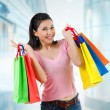 Asian shopping girl — Stock Photo