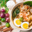 Singapore prawn noodles — Stock Photo #27558779