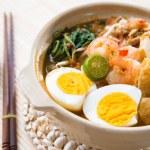 Singapore prawn mee — Stock Photo