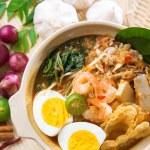 Singaporean prawn noodles — Stock Photo