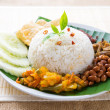 Stock Photo: Malay food nasi lemak