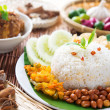 Stock Photo: Malaysia food nasi lemak
